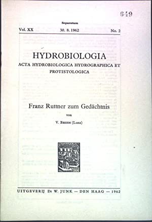 Franz Ruttner zum Gedächtnis; Separatum aus: Vol.: Brehm, V.: