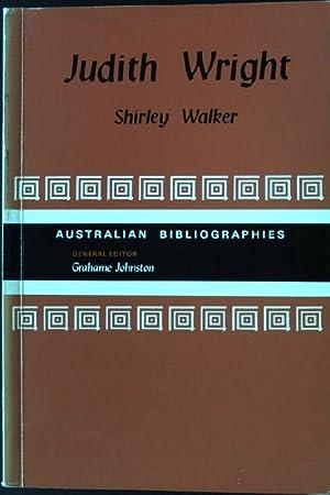 Judith Wright Australian Bibliographies: Walker, Shirley: