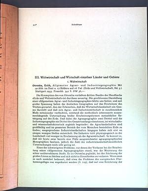 Allgemeine Agrar- und Industriegeographie.: Otremba, Erich: