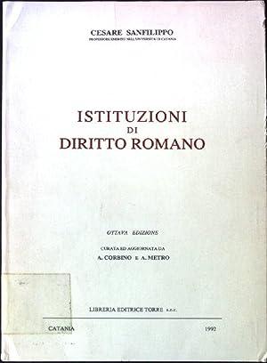 Istituzioni di diritto romano: Sanfilippo, Cesare: