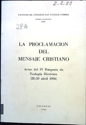 La Proclamacion del Mensaje Cristiano, Actas del
