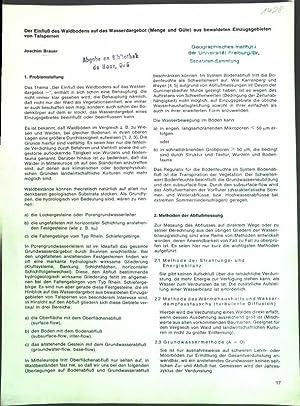 Der Einfluß des Waldbodens auf das Wasserdargebot: Brauer, Joachim: