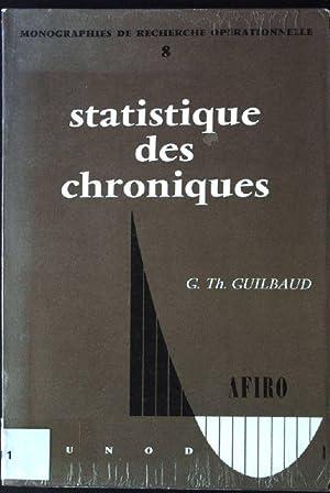 statistique des chroniques Monographies de Recherche operationnelle,: Guilbaud, G.Th.: