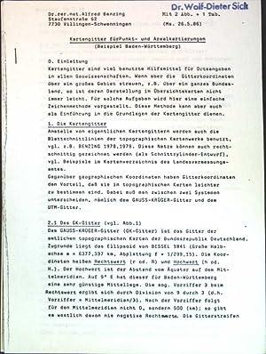 Kartengitter für Punkt- und Arealkartierungen (Beispiel Baden-Württemberg);: Benzing, Alfred: