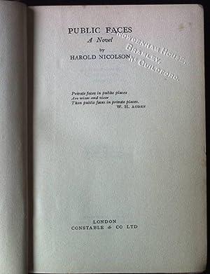 Public Faces - a Novel: Nicolson, Harold: