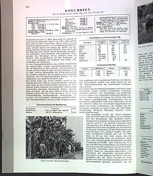 Kolumbien; Sonderdruck aus: Grosser Herder Atlas;: Wilhelmy, Herbert: