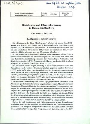 Geofaktoren und Pflanzenkartierung in Baden-Württemberg;: Benzing, Alfred:
