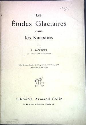 Les Études Glaciaires dans les Karpates;: Sawicki, L.: