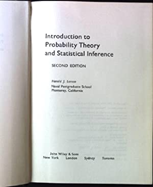 Introduction to Probability Theory and Statistical Inference: Larson, Harold J.: