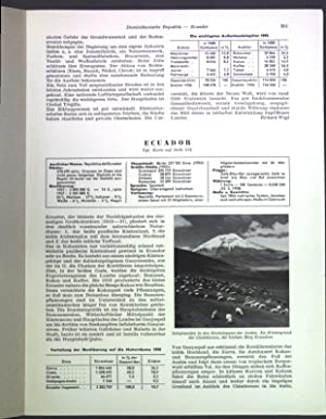 Ecuador; Sonderdruck aus: Grosser Herder Atlas;: Wilhelmy, Herbert: