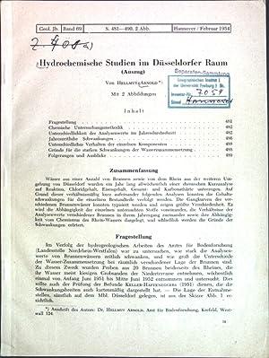 Hydrochemische Studien im Düsseldorfer Raum (Auszug);: Arnold, Hellmut: