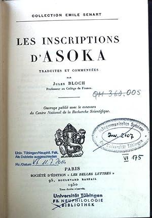 Les Inscriptions D'Asoka: Bloch, Jules: