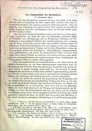 Der Formenschatz des Eiszeitalters;: Levy, Friedrich: