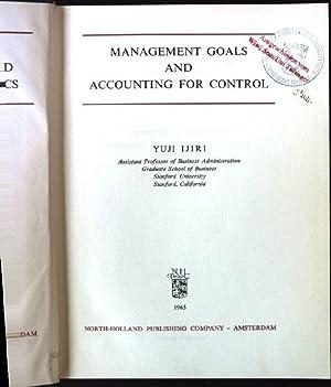 Management Goals and Accounting for Control Studies: Ijiri, Yuji: