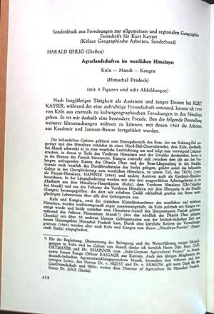 Agrarlandschaften im westlichen Himalaya: Kulu-Mandi-Kangra (Himachal Pradesh);: Uhlig, Harald: