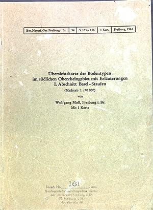 Übersichtskarte der Bodentypen im südlichen Oberrheingebiet mit: Moll, Wolfgang: