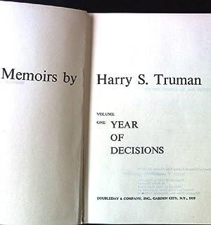Memoirs by Harry S.Truman, Volume One: Year: Truman, Harry S.: