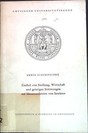 Einfluß von Siedlung, Wirtschaft und geistigen Strömungen: Schimitschek, Erwin: