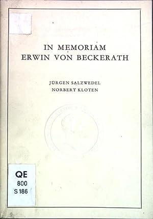 In Memoriam Erwin von Beckerath; Alma Mater,: Salzwedel, Jürgen und