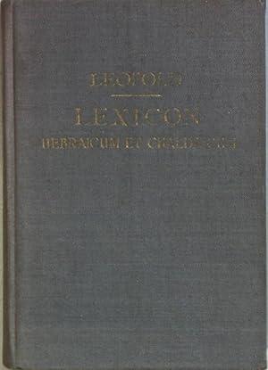 Lexicon Hebraicum et Chaldaicum in Libros Veteris: Leopold, E.F.: