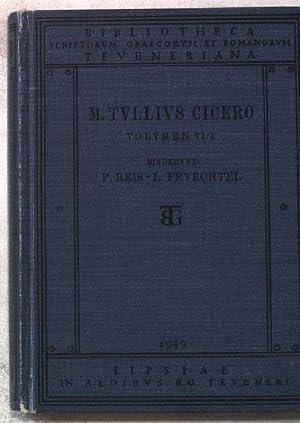 M.Tulli Ciceronis scripta quae manserunt omnia. Volumen: Reis, P.:
