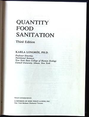 Quantity Food Sanitation: Longree, Karla: