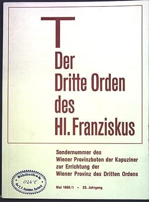 Der Dritte Orden des Hl. Franziskus; Sondernummer