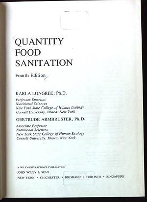 Quantity Food Sanitation: Longree, Karla and