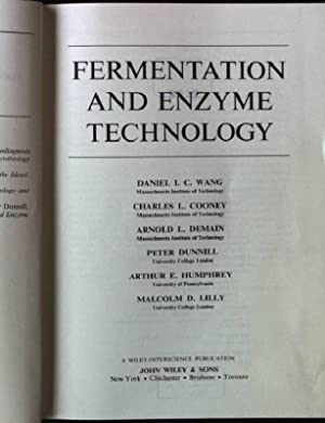 Fermentation and Enzyme Technology Techniques in pure: Wang, Daniel I.C.,