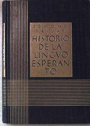 Historio de la Lingvo Esperanto. La Movado: Privat, Edmond: