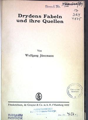 Drydens Fabeln und ihre Quellen; Britannica, Heft: Jünemann, Wolfgang: