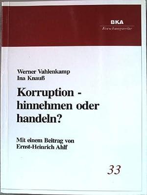 Korruption - ein unscharfes Phänomen als Gegenstand: Vahlenkamp, Werner und