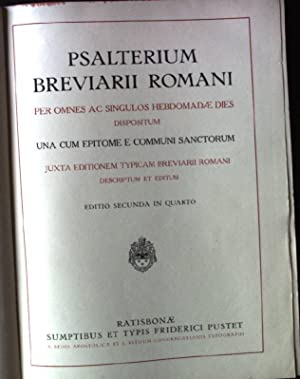 Psalterium Breviarii Romani, per Omnes Ac Singulos