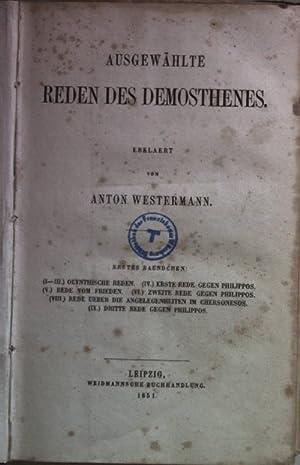 Ausgewählte Reden des Demosthenes (I. - III.: Westermann, Anton: