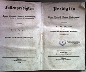 Predigten: ZWEITER BAND: Fastenpredigten.: Liebermann, Franz Leopold