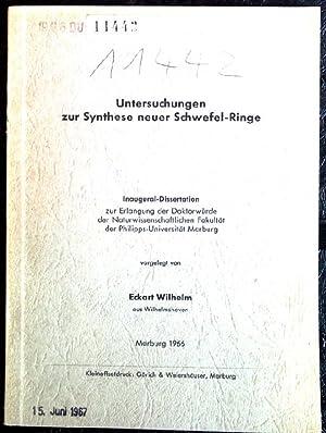 Untersuchungen zur Synthese neuer Schwefel-Ringe Inaugural-Dissertation zur Erlangung der ...