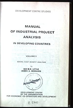 Manual of Industrial Project Analysis in Developing: Little, Ian M.D.