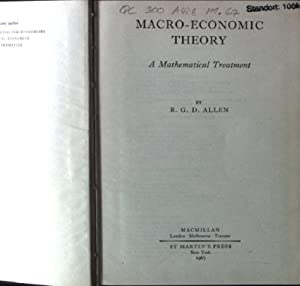 Macro-Economic Theory, A Mathematical Treatment: Allen, R.G.D.: