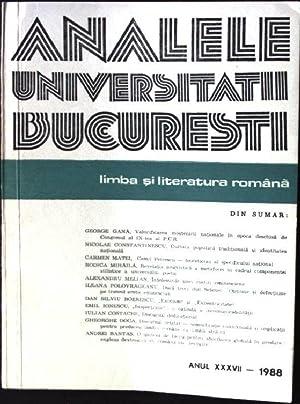 Analele Universitatii Bucuresti - Limba Si Literatura
