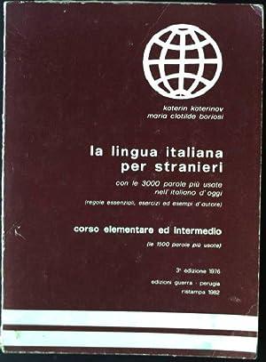 la lingua italiana per stranieri, con le: katerinov, katerin und