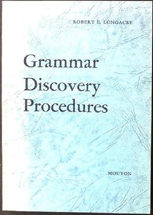 Grammar Discovery Procedures Janua Linguarum, Studia Memoriae,: Longacre, Robert E.: