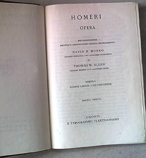 Homeri Opera. Tomus I: Iliadis Libros I-XII: Monro, David B.