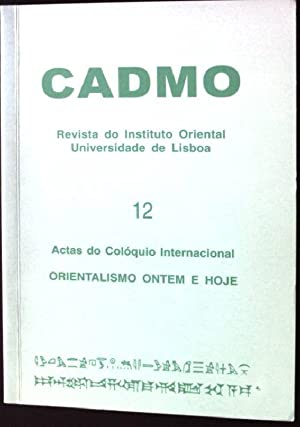 Cadmo - Revista do Instituto Oriental da: Carreira, Jose Nunes: