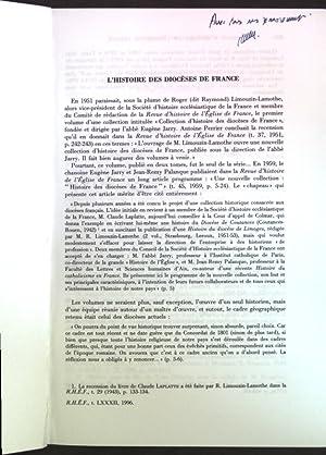 L'histoire des diocèses de France; Extrait de: Lemaitre, Jean-Loup: