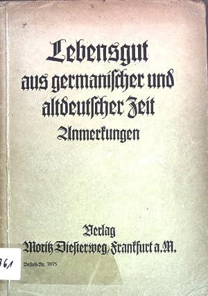 Lebensgut aus germanischer und altdeutscher Zeit; Diesterwegs: Schönfelder, Emil und
