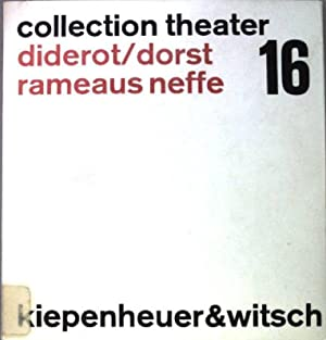 Rameaus Neffe. Collection Theater. Texte 16.: Diderot, Denis: