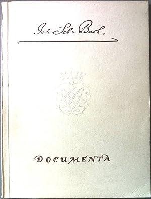 Documenta. SIGNIERTES EXEMPLAR.: Bach, Johann Sebastian: