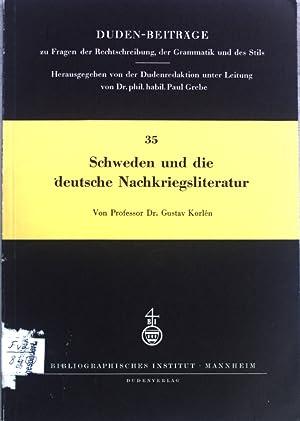 Schweden und die deutsche Nachkriegsliteratur; Duden-Beiträge, Heft: Korlén, Gustav: