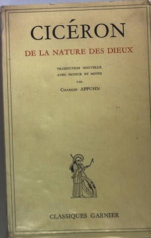 Ciceron: De la nature des dieux.: Appuhn, Charles: