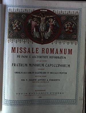 Missale Romanum Pii Papae X auctoritate reformatum